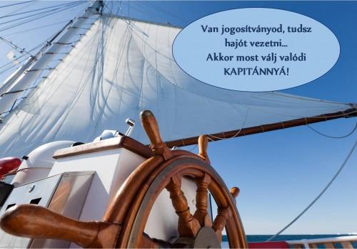 Válj kapitánnyá - Hajó jogosítvány megszerzése után