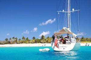 Stunning-sailing-yacht-Swan-66-GODOT-anchored-off-Sandy-Cay-Island-Credit-Yacht-Shots-11